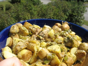 Somewhat Germanic Potato Salad, Vegan