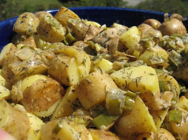 Somewhat Germanic Potato Salad, Vegan
