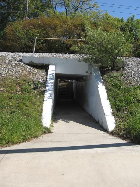 pedestrian tunnel under College Ave, Decatur, GA