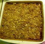Apple Cranberry Crisp after baking