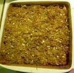 Apple Cranberry Crisp after baking
