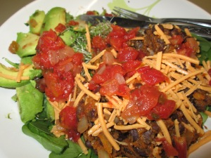 Vegan Black Bean Pumpkin Taco Salad