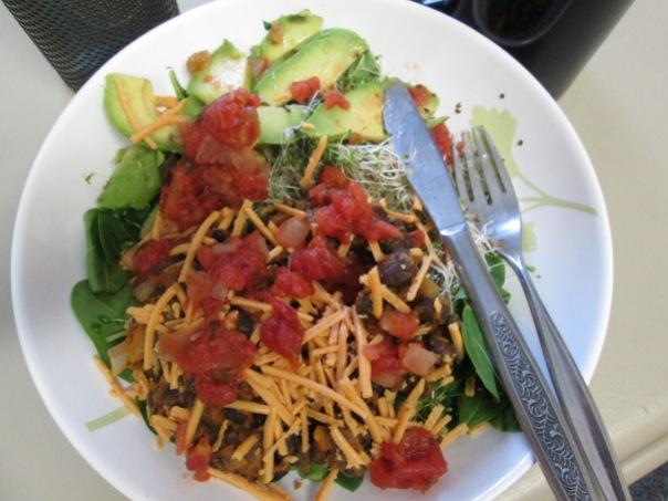 Vegan Black Bean Pumpkin Taco Salad