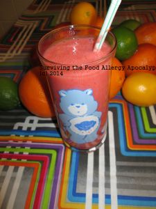 Strawberry and blood orange smoothie