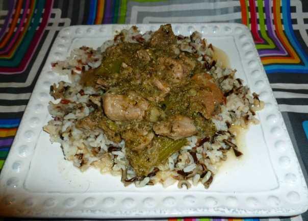Spicy Green Pork Amazing (a.k.a. Pork Chile Verde)