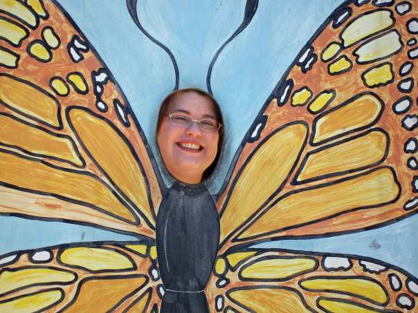 Denise at The Butterfly Place in Westford, Massachusetts