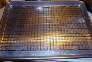 Cooling Rack on a baking sheet