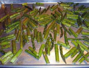 Asparagus after roasting
