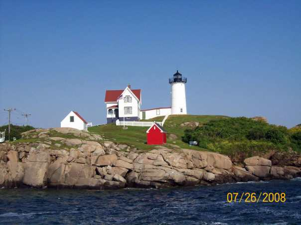 Nubble Lighthouse in the summer - we need to be reminded summer exists.