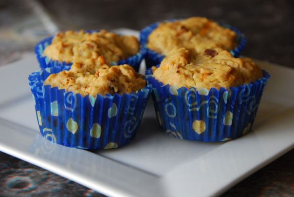 "Allergy-friendly bacon ""cheddar"" muffins. Photo by J. Andrews"