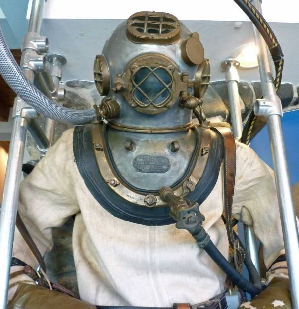 Remember this from Scooby-Doo? Actually it's an old diving suit at the Seacoast Science Center at Odiorne Point