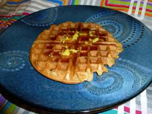 Sourdough Waffles (Gluten-free & Vegan)