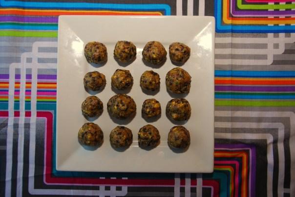 Macadamia-Pistachio-Cherry Raw Balls