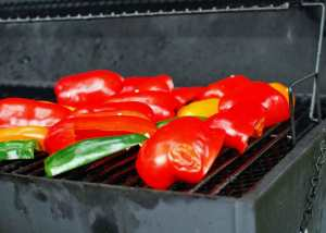 Peppers on the grill - Photo by J. Andrews