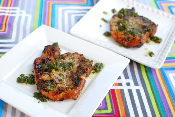 Grilled Chimichurri Pork Chops. Photo by J. Andrews