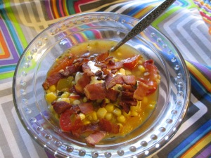 Fresh Corn Stew with Bacon