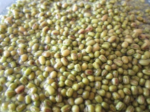 Soaked Mung Beans before cooking