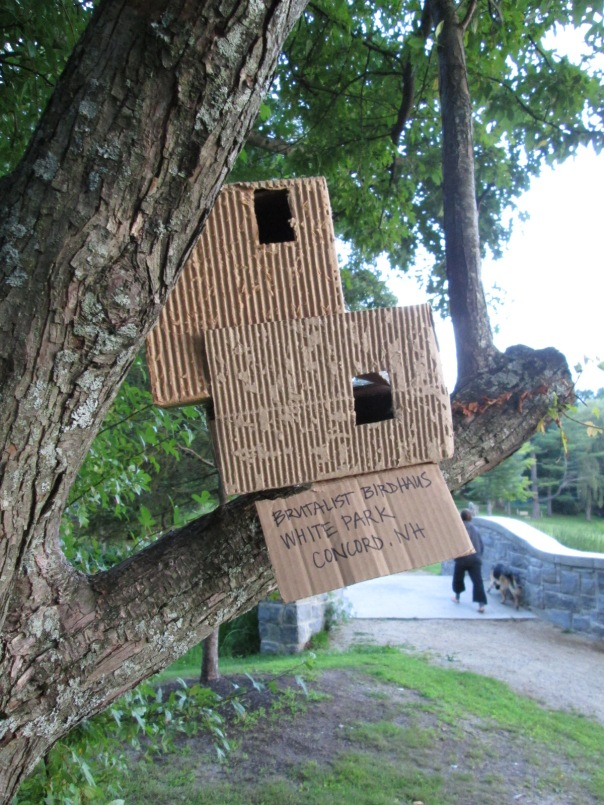 Brutalist Birdhouse, because birds deserve good design, too