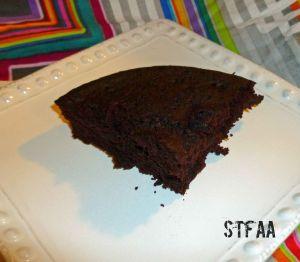 Microwave Individual-ish Chocolate Wacky Cake