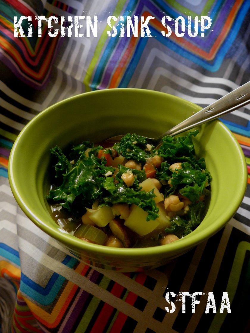 Allergy-friendly Kitchen Sink Soup vegan gluten-free