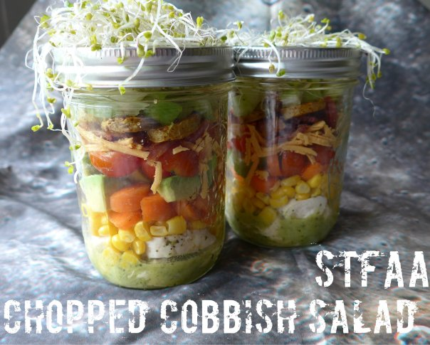 Chopped Cobbish Salad in Jars