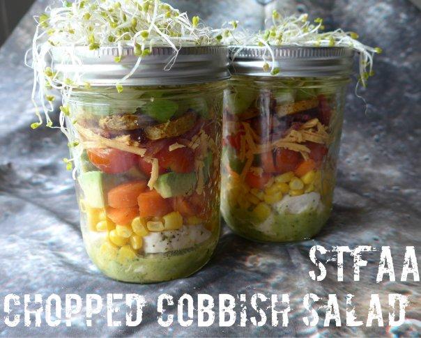 Chopped Cobbish Salad in Jars