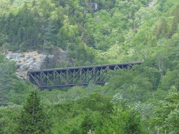 Awesome Railroad Trestle in the White Mountains of New Hampshire